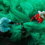 two-women-become-lost-in-the-fabric-of-a-fishing-net-in-vinh-hy-ninh-thuan-vietnam-they-are-sewingthe-net-for-a-new-fishing-season-while-the